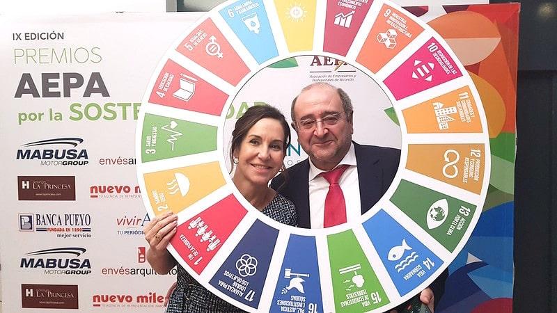 Marina Sánchez Jean, presidenta de AEPA y Jesús Navarro Sánchez, presidente PYMES - Promoción Empresarial de CEIM